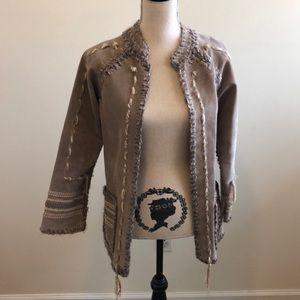 Handmade leather jacket, EUC